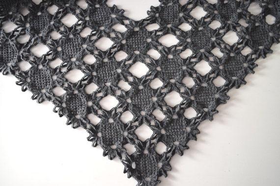 Flower Lace Shawl Crochet Pattern Favecrafts : Crochet Shawl Pattern, Lacy Floral Motif Shawl, Crochet ...