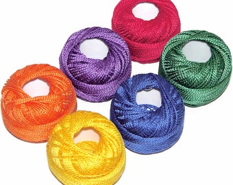 Presencia Crayon Sampler Size 8 Perle Cotton