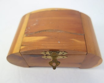 Hand Carved Jewelry Box with Latch