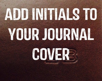 Your Initials Embossed On Your OffGrid Journals Cover