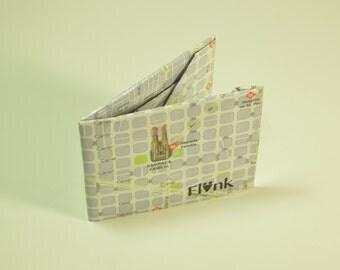 Barcelona map paper wallet