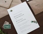 Olive Branch Wedding Invitation, Olive Branches Invitation, Classic Wedding Invitations, Simple Wedding Invitation, Rustic Invitation