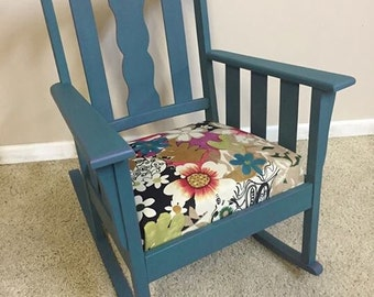 Teal Rocking Chair