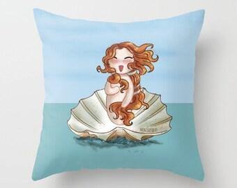 Venus botticelli Pillow (WITH PILLOW INSERT) / Venus botticelli Room