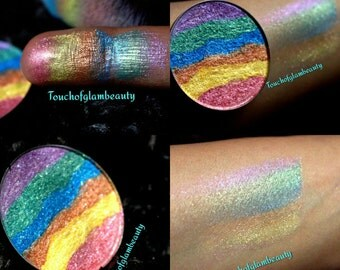 Rainbows & Unicorns Jumbo 59mm, 44m, 37mm size WITH Compact Duochrome highlighter.