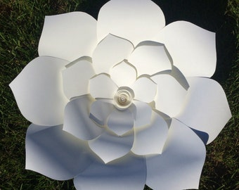 Set of 3 large paper flowers any color!!  for wedding backdrop, arbor decoration, table centerpiece, isle decor, photo backdrop, event flowe