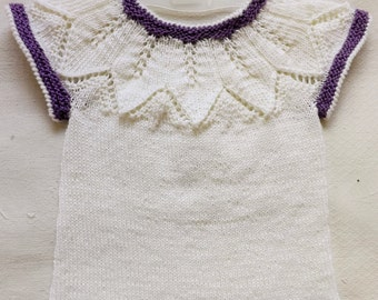 Knit vest Girl vest Knitted vest Merino wool vest 12-18months
