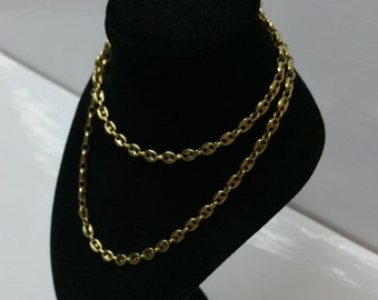 HK196 gold plated 50 cm / 4.3 mm bean necklace 925