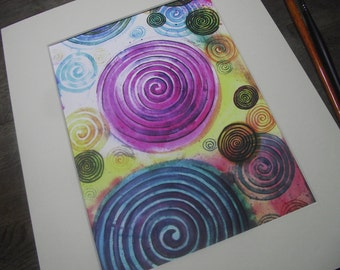 Abstract art,spiral painting,spiritual art,spiral art,colourful art,abstract print,spirals,art print,re-birth,