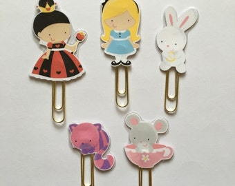 Alice in Wonderland Double Sided Planner Clip - Made to Order