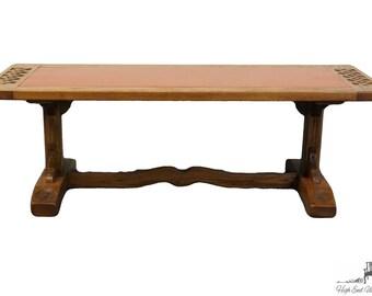 Romweber Viking Oak 52 Leather Top Coffee Table