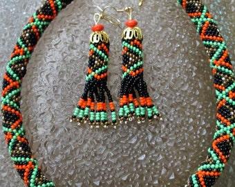 Carpathian ukrainian necklace. Handmade beaded jewelry. Ukrainian. Karpaty. Ukrainian jewelry. Ukraine.