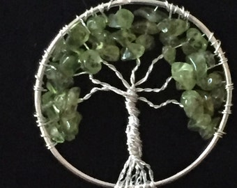 Healing Peridot Tree of Life