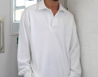Ultra Baggy Rugby Shirt White
