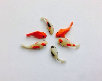 Mini polymer clay gold fish