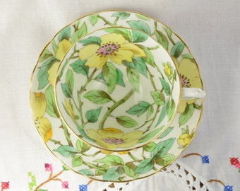 Tuscan yellow chintz tea cup and saucer