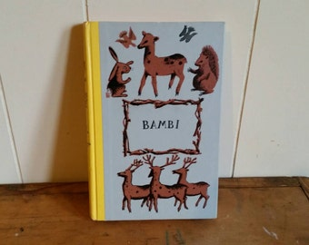 Vintage Bambi Book/ Vintage Bambi Children's Book/ Vintage Children's Book Bambi by Felix Salten/ Vintage Bambi Nursery Decor/ Vintage Bambi