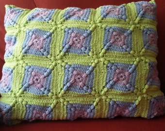 "Granny square cushion ""Candy"""