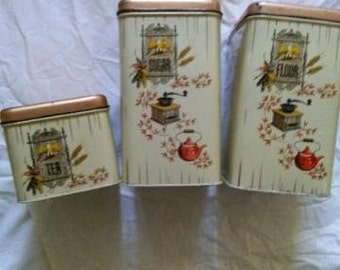 3 pc Cheinco Tin Canister set