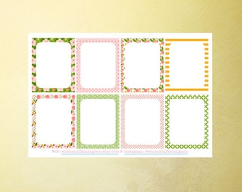 Isabella Collection Decorating WRITE ON Squares - Planner Stickers