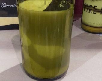 Upcycled Vanilla Wine Bottle Soy Candle