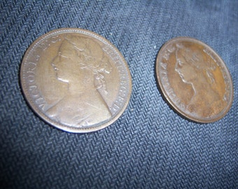 1893 and 1875 British Large Pennies