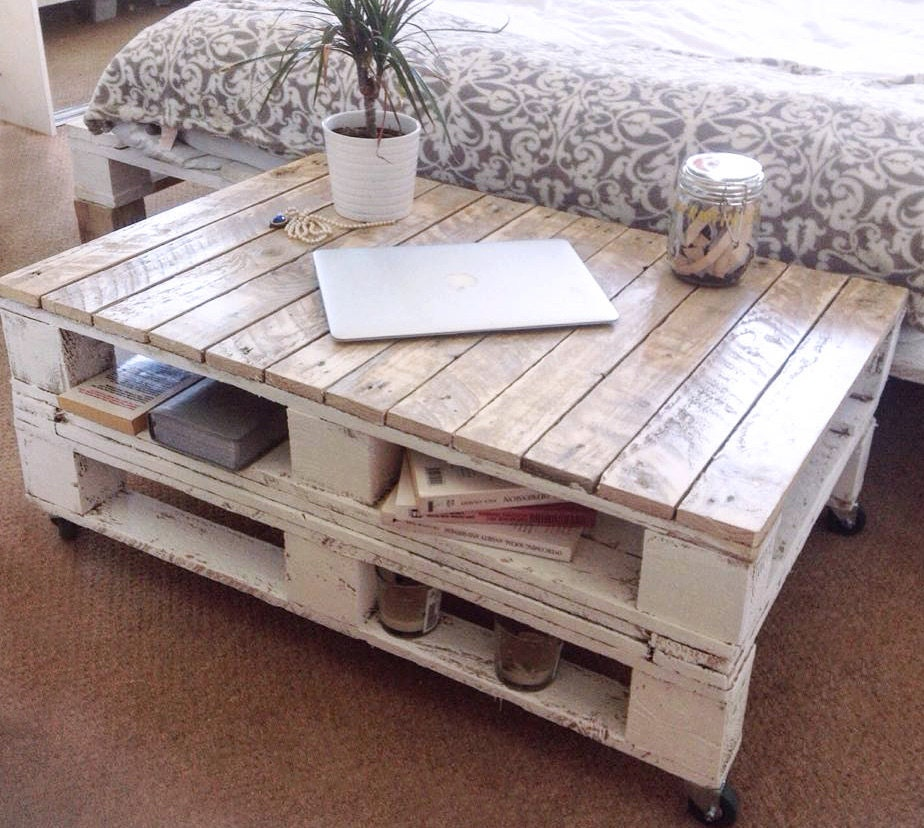 pallet coffee table lemmik farmhouse style by farmhousepalletsco. Black Bedroom Furniture Sets. Home Design Ideas