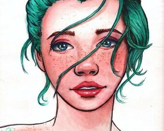 Made of stars- original watercolor painting