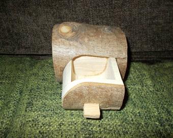 Handmade 'log' jewellery box