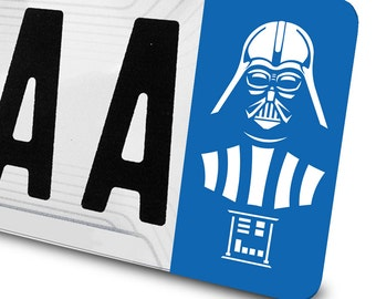 Sticker Darth Vader Star Wars for number plates