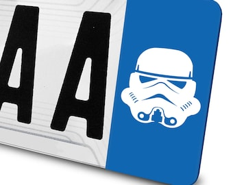 Sticker Stormtrooper Star Wars for number plates