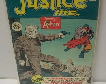 1975  Justice Inc. #2 DC Comics Featuring The Avenger Good Condition Great Jack Kirby Art Work Vintage Comic Book