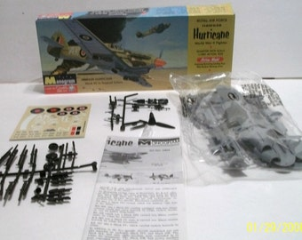 1994 Monogram RAF Hawker Hurricane WWII Fighter 1/48  Airplane Plastic Model  Box Sealed Bag - Build 1 of 5 Versions