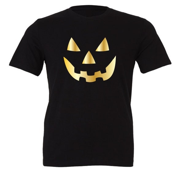 Scary Pumpkin Face Halloween T-Shirt. Funny Halloween Shirt. Pumpkin Shirt. Halloween Costume. Trick or Treat. Hocus Pocus.
