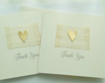 Contemporary thank you card - in gold or silver