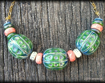 Necklace. Ceramic necklace