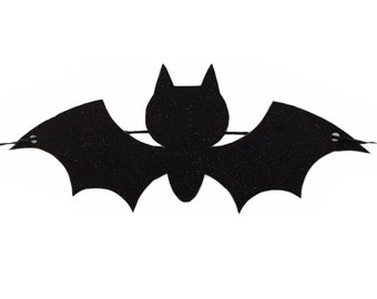 Halloween Banner - RTS Banner - Bat Banner - Black Glitter Bat Banner - Halloween Bats Banner - Halloween Decoration - Halloween Bats -