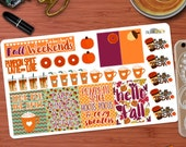 2nd Edition Festive Fall / Autumn Quotes and Decorative Sticker Kit for your Erin Condren Life Planner