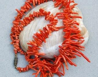 Vintage Genuine Branch Coral Necklace