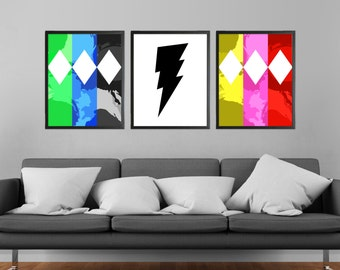 90s Kids TV Modern Art Prints Set of 3