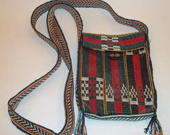 Vintage Hand Woven Small Bag from Nepal