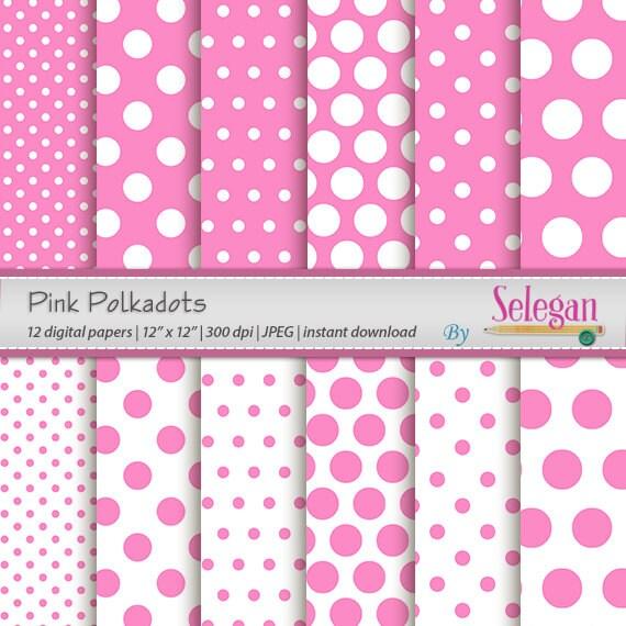 polka dot scrapbook pink polkadots digital