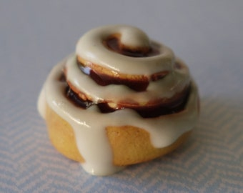 Polymer Clay Cinnamon Roll Charm or Necklace