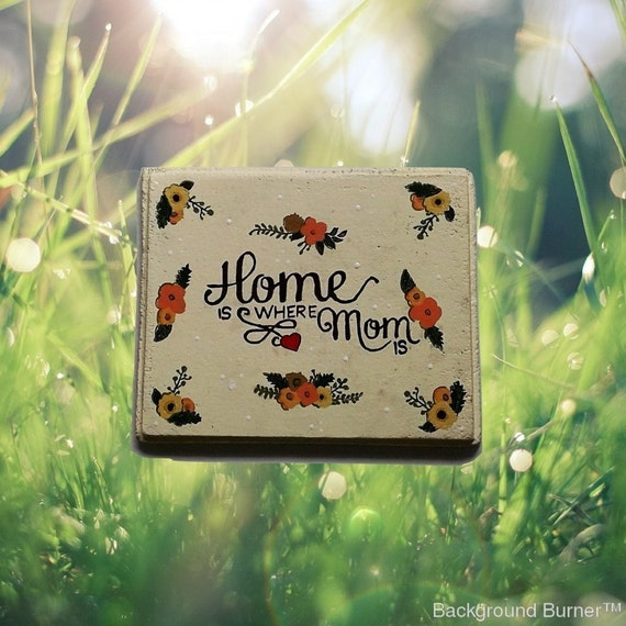 Painted Garden Stones: Handmade Garden Memorial Stepping Stone Personalized Stone
