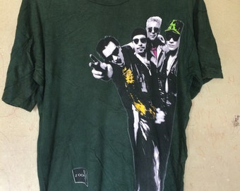 Vintage 93 U2 ZOOROPA band t shirt screen star large size