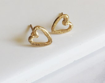 Tiny Heart Earrings, Dainty Earrings