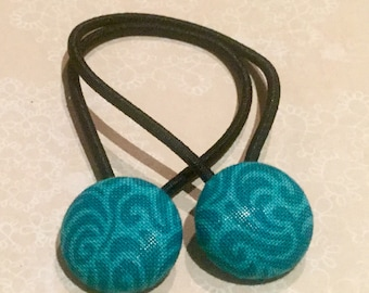 Hair bands/ties - Teal Swirl