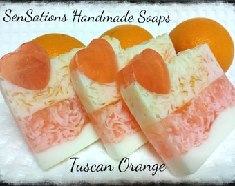 Orange Tuscan Soap, Handmade soap, Fruity Soap, Glycerin Soap, orange Soap