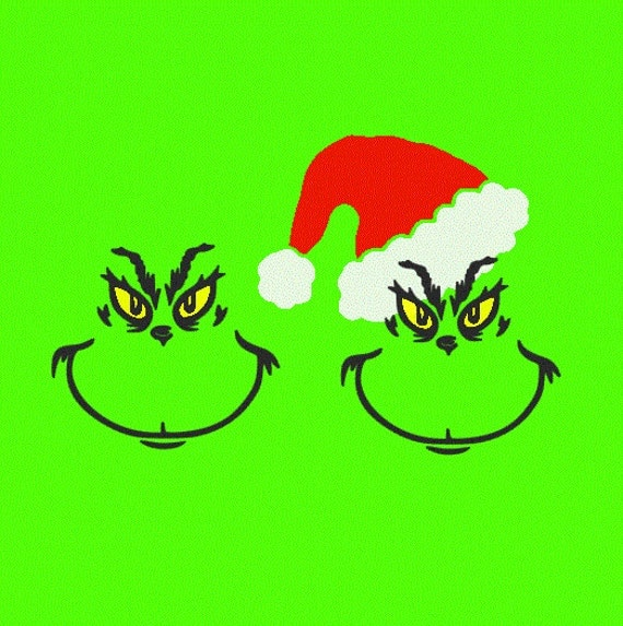 Grinch Inspired SVG, Studio 3, DXF, AI, ps and pdf Cutting Files for ...