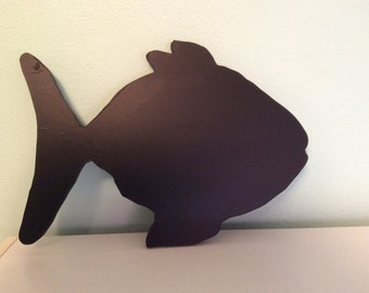 Chalkboard or blackboard fish silhouette